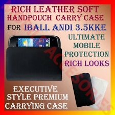 ACM-RICH LEATHER SOFT CARRY CASE for IBALL ANDI 3.5KKE MOBILE HANDPOUCH COVER
