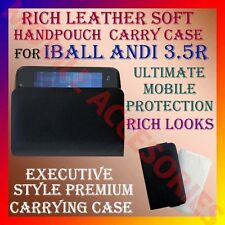 ACM-RICH LEATHER SOFT CARRY CASE for IBALL ANDI 3.5R MOBILE HANDPOUCH COVER CASE