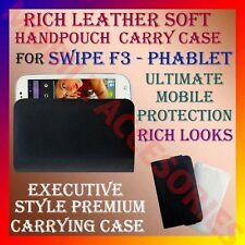 ACM-RICH LEATHER SOFT CARRY CASE for SWIPE F3 PHABLET MOBILE HANDPOUCH COVER NEW