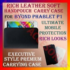 ACM-RICH LEATHER SOFT CARRY CASE for BYOND PHABLET P1 MOBILE HANDPOUCH COVER
