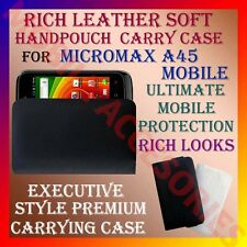 ACM-RICH LEATHER SOFT CARRY CASE for MICROMAX A45 MOBILE HANDPOUCH COVER PROTECT