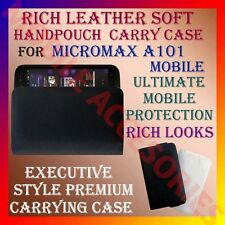 ACM-RICH LEATHER SOFT CARRY CASE for MICROMAX A101 MOBILE HANDPOUCH COVER COVER