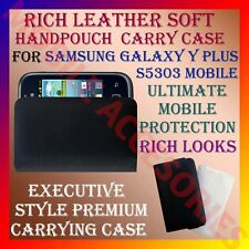 ACM-RICH LEATHER SOFT CARRY CASE for SAMSUNG GALAXY Y PLUS S5303 HANDPOUCH COVER