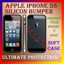 "ACM-APPLE IPHONE 5S BUMPER SILICON CASE COVER ""PROTECT YOUR IPHONE EDGES NOW"""