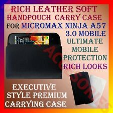ACM-RICH LEATHER SOFT CARRY CASE for MICROMAX NINJA A57 MOBILE HANDPOUCH COVER