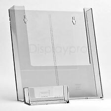 A6 DL A5 A4 Wall Mount Leaflet Flyer Holders and Business Card Display Stands