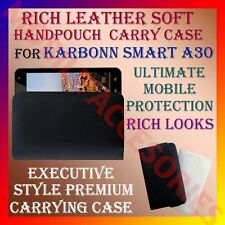 ACM-RICH LEATHER SOFT CARRY CASE for KARBONN SMART A30 MOBILE HANDPOUCH COVER