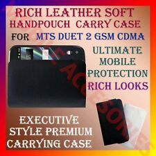 ACM-RICH LEATHER SOFT CARRY CASE MTS DUET 2 GSM CDMA MOBILE HANDPOUCH COVER NEW