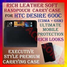 ACM-RICH LEATHER SOFT CARRY CASE for HTC DESIRE 600C (CDMA + GSM) HANDPOUCH CASE