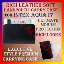ACM-RICH LEATHER SOFT CARRY CASE for INTEX AQUA I7 MOBILE HANDPOUCH COVER HOLDER