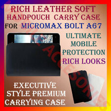 ACM-RICH LEATHER SOFT CARRY CASE for MICROMAX BOLT A67 MOBILE HANDPOUCH COVER