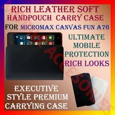 ACM-RICH LEATHER SOFT CARRY CASE MICROMAX CANVAS FUN A76 MOBILE HANDPOUCH COVER