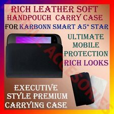 ACM-RICH LEATHER SOFT CARRY CASE for KARBONN SMART A5* STAR MOBILE POUCH COVER