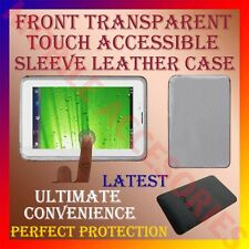 "ACM-FRONT TRANSPARENT TOUCH ACCESSIBLE SLEEVE LEATHER COVER CASE FOR 7"" TABLET"
