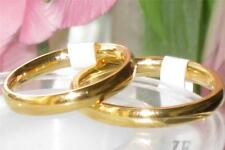 MENS OR WOMENS CLASSIC  PLAIN WEDDING RING BAND 18KT GOLD PLATED  3MM STR161