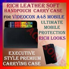 ACM-RICH LEATHER SOFT CARRY CASE VIDEOCON A48 MOBILE HANDPOUCH COVER PROTECTION