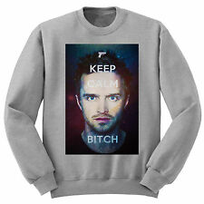 BREAKING BAD JESSIE KEEP CALM BITCH SWEATER JUMPER Heisenberg Walt Crystal Meth
