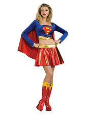 Adult Super Sexy Supergirl Fancy Dress Costume Ladies Womens Female BN