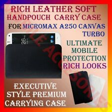 ACM-RICH LEATHER SOFT CARRY CASE MICROMAX A250 CANVAS TURBO MOBILE COVER POUCH