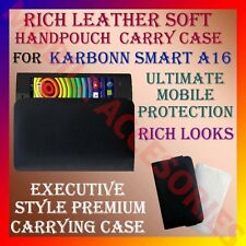ACM-RICH LEATHER SOFT CARRY CASE of KARBONN SMART A16 MOBILE HANDPOUCH COVER NEW