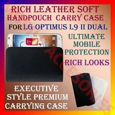 ACM-RICH LEATHER SOFT CARRY CASE for LG OPTIMUS L9 II DUAL MOBILE COVER POUCH