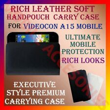 ACM-RICH LEATHER SOFT CARRY CASE for VIDEOCON A15 MOBILE HANDPOUCH COVER PROTECT