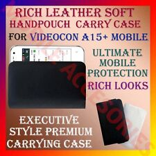 ACM-RICH LEATHER SOFT CARRY CASE for VIDEOCON A15+ MOBILE HANDPOUCH COVER CASE