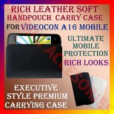 ACM-RICH LEATHER SOFT CARRY CASE for VIDEOCON A16 MOBILE HANDPOUCH COVER PROTECT