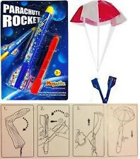Pull Back & Launch Catapult Flying Space Parachute Rocket Toy Party Filler