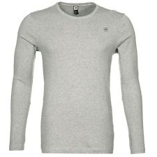 G-star Raw round-Neck base crew langarm Shirt grau rundhals D07204 124 906