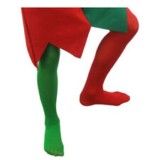 CHILD ELF TIGHTS BOYS GIRLS CHRISTMAS COSTUME ACCESSORY GREEN RED 4/14 YEARS