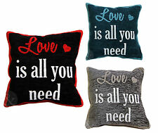 Luxury Vintage Chenille Cushions - Luxury Love Heart Scatter Cushion Covers