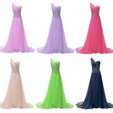 Charm Long Chiffon Evening Formal Bridesmaid Wedding Ball Gown Prom Party Dress