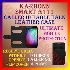 ACM-CALLER ID TABLE TALK CASE for KARBONN SMART A111 MOBILE FLIP FLAP FULL COVER