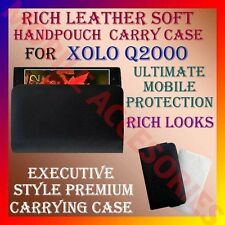 ACM-RICH LEATHER SOFT CARRY CASE LAVA XOLO Q2000 HANDPOUCH COVER POUCH PROTECT