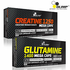 Creatine & Glutamine Blisters 60-180 Caps. Muscle Growth Anabolic Monohydrate