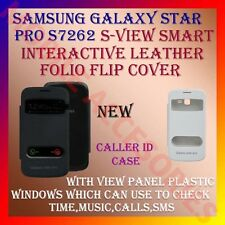 ACM-S-VIEW INTERACTIVE LEATHER FLIP CALLER ID CASE for SAMSUNG STAR PRO S7262
