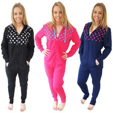 Belle Boutique Womens Hooded Star & Stripes Onesie Ladies All In One Loungewear
