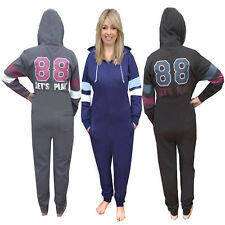 Belle Boutique Womens Lets Play Hooded Onesie Ladies All In One Loungewear