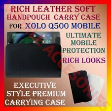 ACM-RICH LEATHER SOFT CARRY CASE XOLO Q500 MOBILE HANDPOUCH COVER PROTECT HOLDER