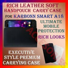 ACM-RICH LEATHER SOFT CARRY CASE for KARBONN SMART A18 MOBILE HANDPOUCH COVER