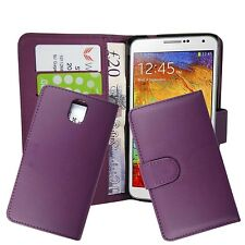 PLAIN PURPLE BOOK FLIP CASE COVER FOR SAMSUNG GALAXY NOTE 3 GT-N9000