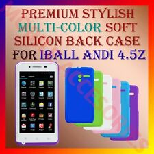 ACM-PREMIUM MULTI-COLOR SOFT SILICON BACK CASE for IBALL ANDI 4.5Z MOBILE COVER