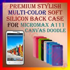 ACM-PREMIUM MULTI-COLOR SOFT SILICON BACK CASE for MICROMAX A111 DOODLE COVER