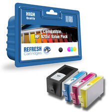 4 COMPATIBLE HP HEWLETT PACKARD OFFICEJET INK CARTRIDGES HP 920XL 920 1 FULL SET