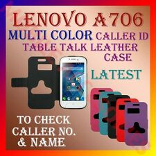 ACM-CALLER ID MULTI-COLOR TABLE TALK CASE for LENOVO A706 FLIP FLAP COVER LATEST