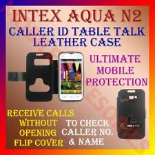 ACM-CALLER ID TABLE TALK CASE for INTEX AQUA N2 MOBILE FLIP FRONT & BACK COVER