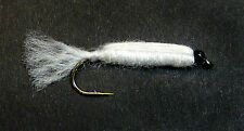 3x, 6x or 12x Fly Fishing Trout Flies (L4) - WHITE BABY DOLL - Trout Lure