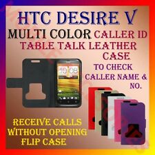 ACM-CALLER ID MULTI-COLOR TABLE TALK CASE for HTC DESIRE V FLIP FLAP COVER POUCH