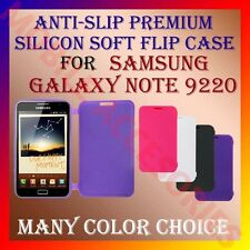 ACM-ANTI-SLIP PREMIUM SILICON SOFT FLIP CASE for SAMSUNG NOTE I9220 COVER TPU